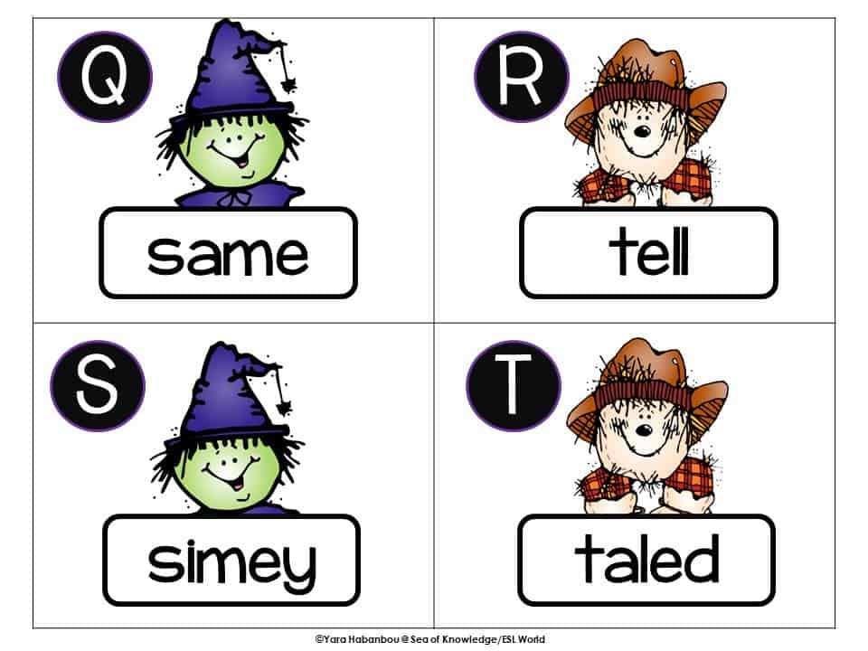 Real or Spooky Words? Freebie + Fun October Activities for Kinders.