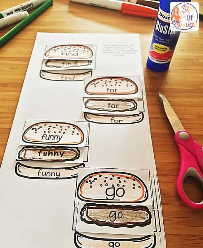 Sight Words Worksheets Free - The BEST Burgers Kids Will LOVE to Build! Looking for the best Sight Words Worksheets free? These build a burger printable worksheets are the best kind of worksheets to engage mainstream and ESL kids alike! #freeprintable #free #sightwords #kindergarten #teachers #teaching #homeschool