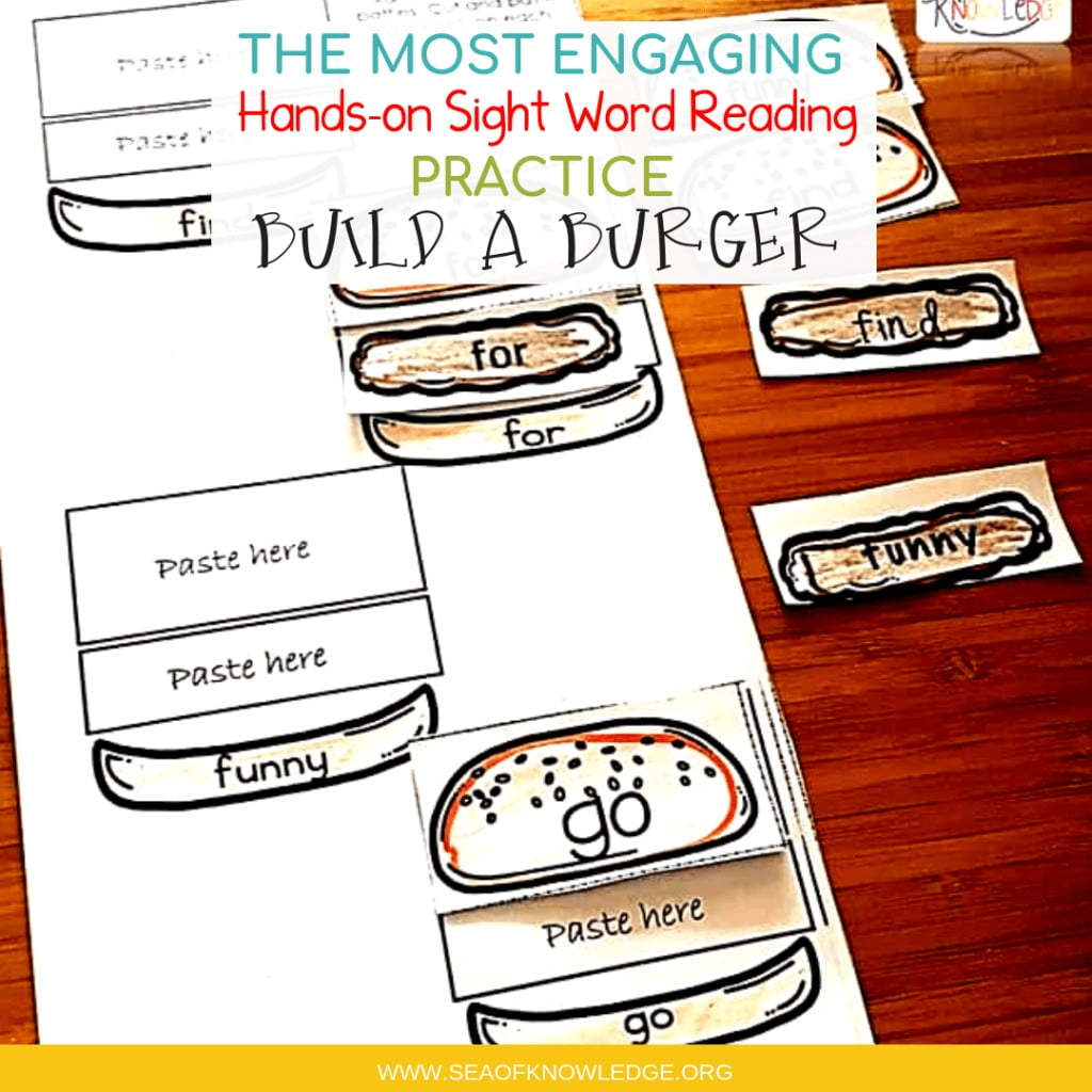 Sight Words Worksheets Free – The BEST Burgers Kids Will LOVE to Build!