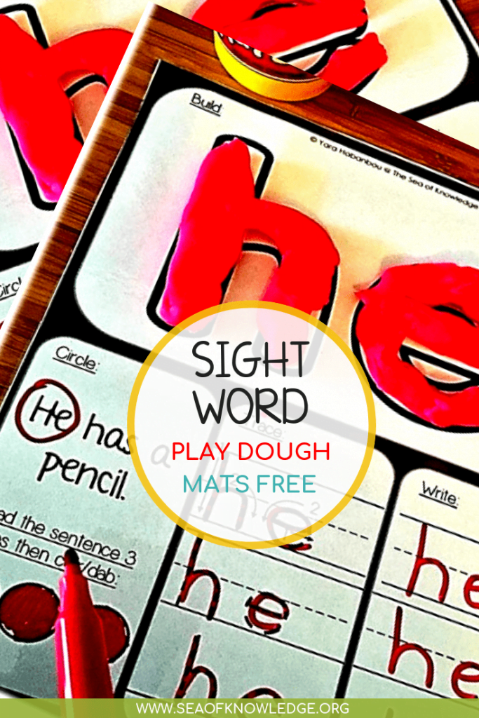 Need a fun, tactile and engaging method to help little learners develop reading their sight words? These Sight Word Play Dough Mats will do just that!  #learningmats #freeprintable #preschool #kindergarten