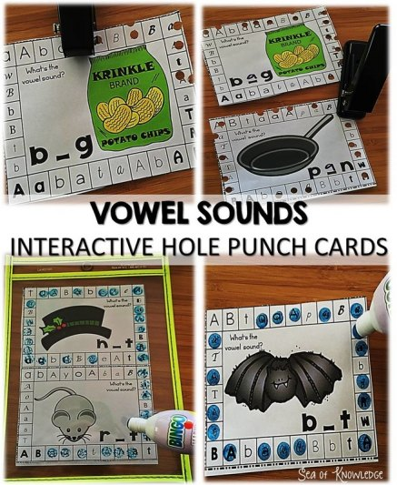 Vowel Sounds - Hole Punch Aactivities