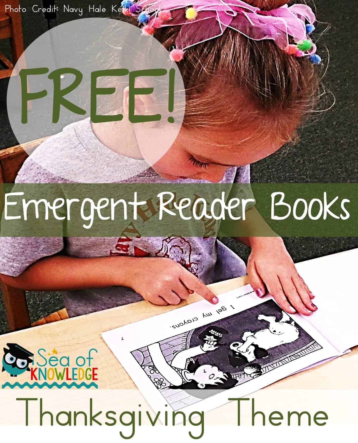 Free Thanksgiving Vocabulary Emergent Reader Activity Books for ELL Learners