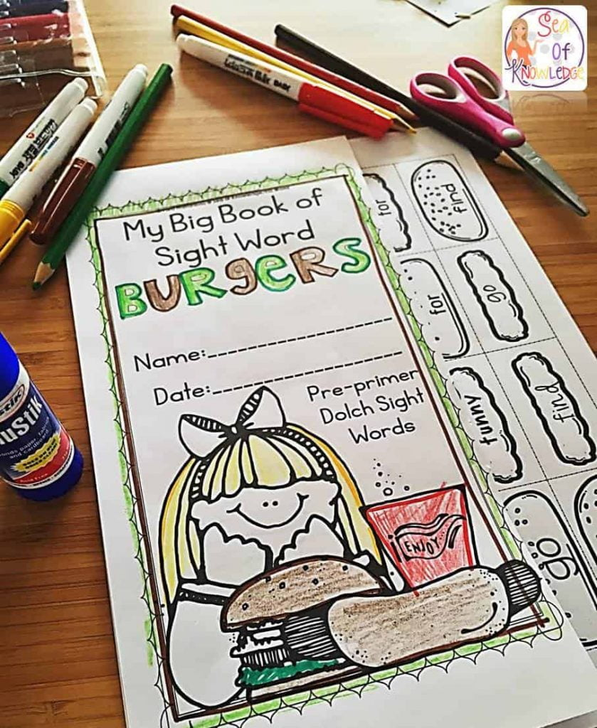 Sight Word Burgers Freebie