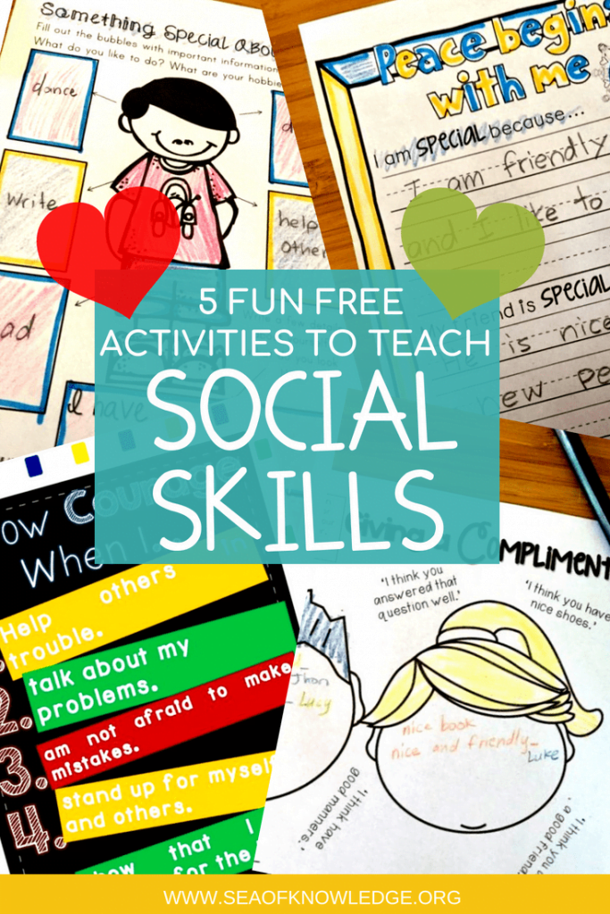 The best way to incorporate teaching social skills is to actually model positive social behavior at all times. Download your copy of FREE social skills printables, strategies on how to deal with disruptive behavior and MORE! #freeprintable #socialskills #kids #teachers