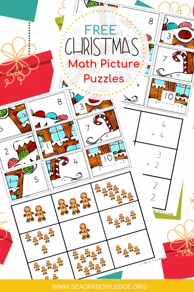 Free CHristmas Math Puzzles. The ultimate engaging math game? Use these Free Christmas Math Puzzles that feature gingerbread men! They will especially love these ones as they try to work out what the 'mystery picture' will be!