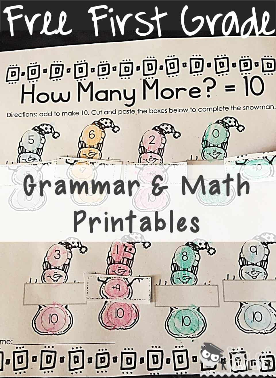 Grammar Activities First Grade FREE + Five for Friday {15.01.16}