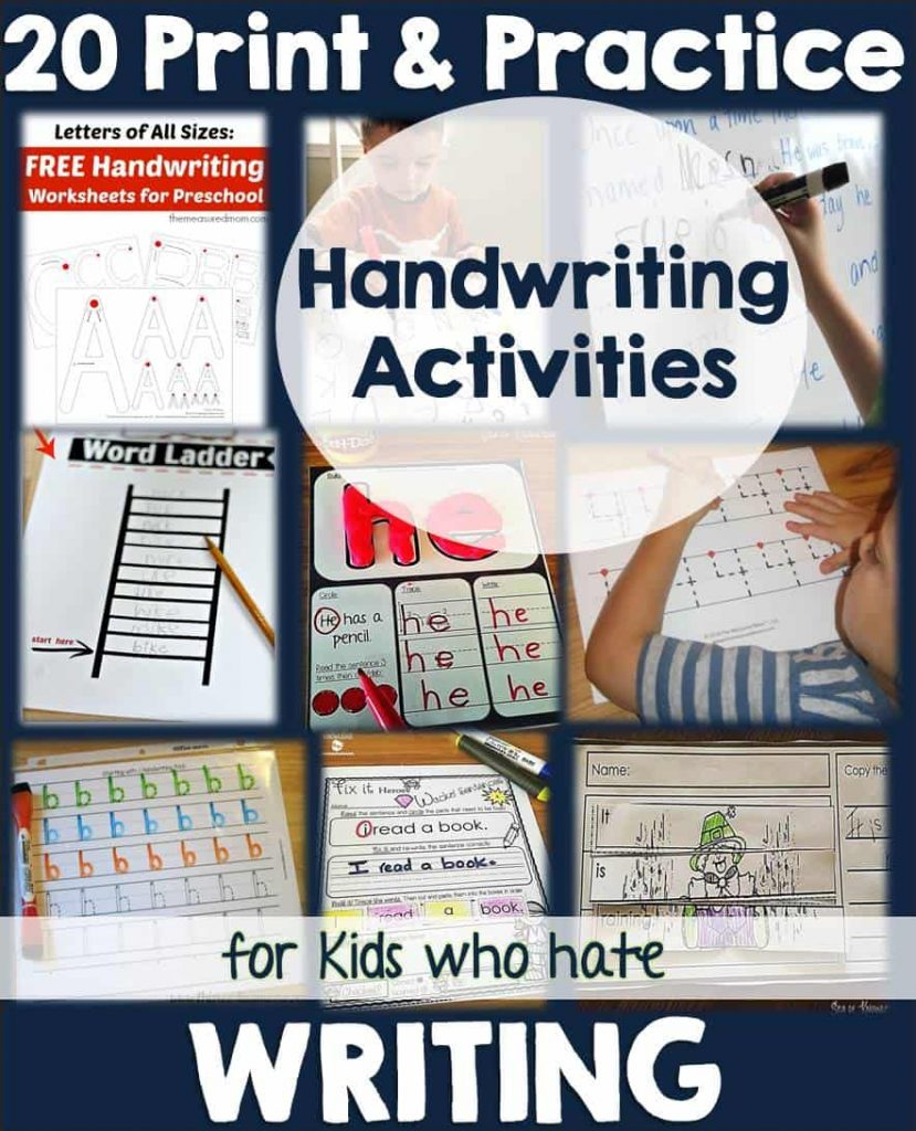 20 Handwriting Fun Print Practice Activities for Kids Who Hate Writing