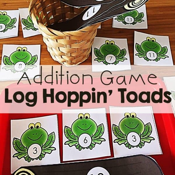 Addition Game Log Hoppin Toads