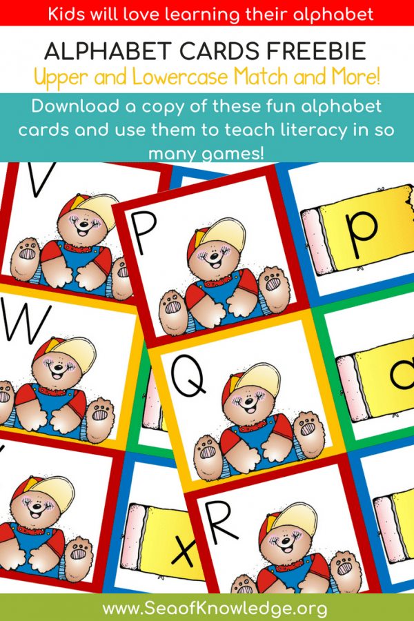 Bear Alphabet Cards Free