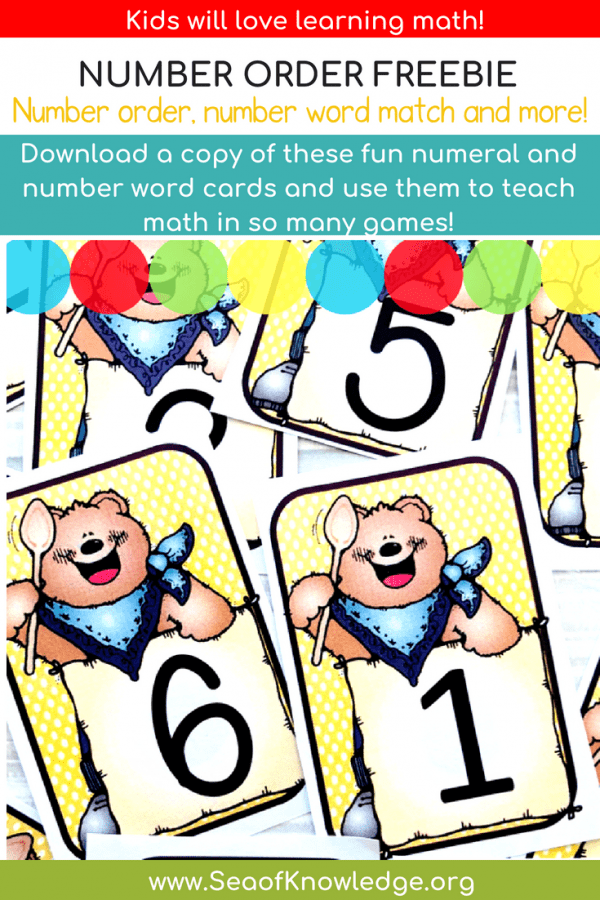 Bear Number Cards Free