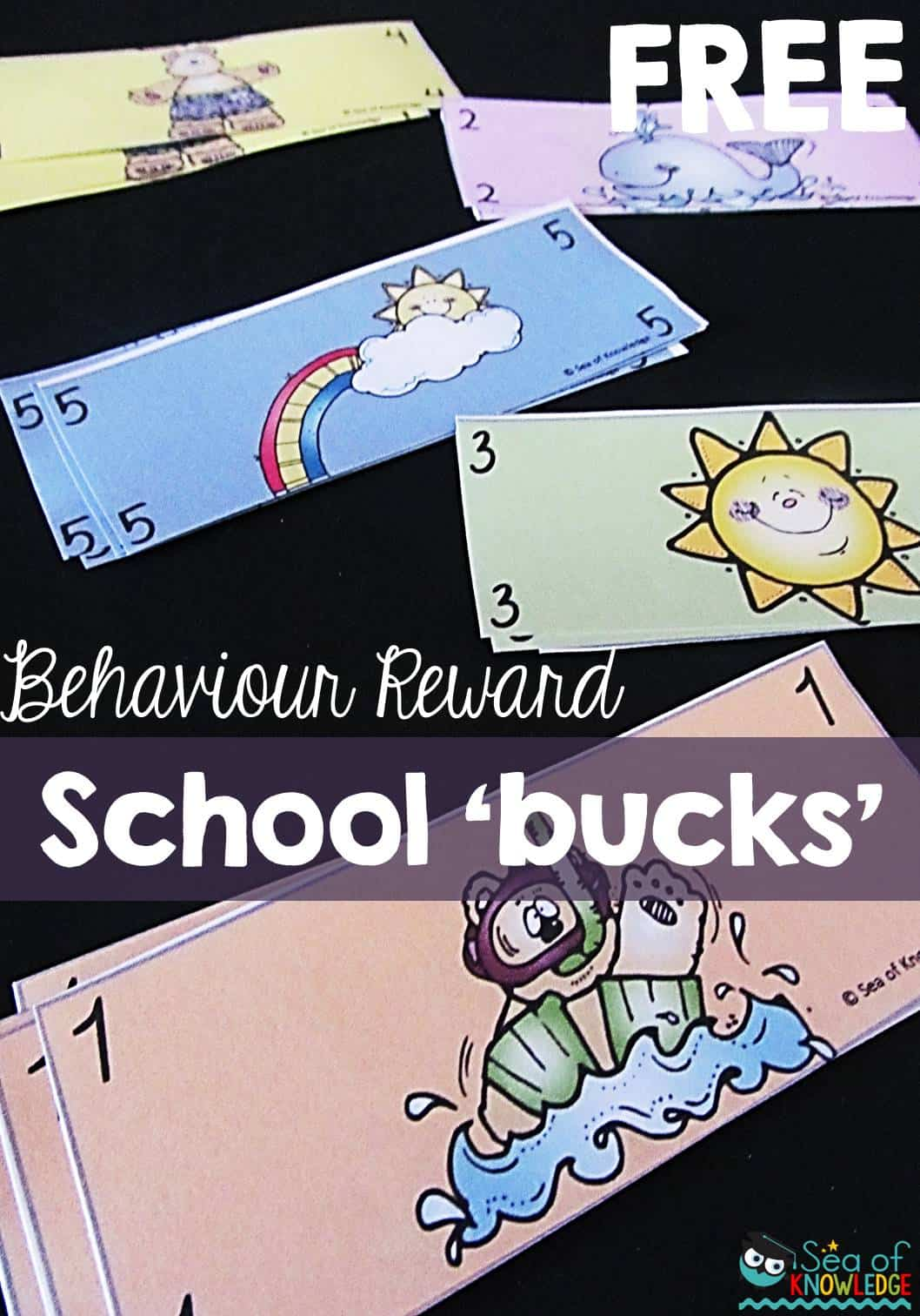 Positive Behavior Incentive FREE School Bucks