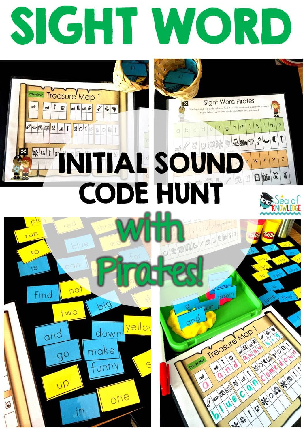 Sight Word Activity Pirate Secret Code Hunt! The Ultimate Game!