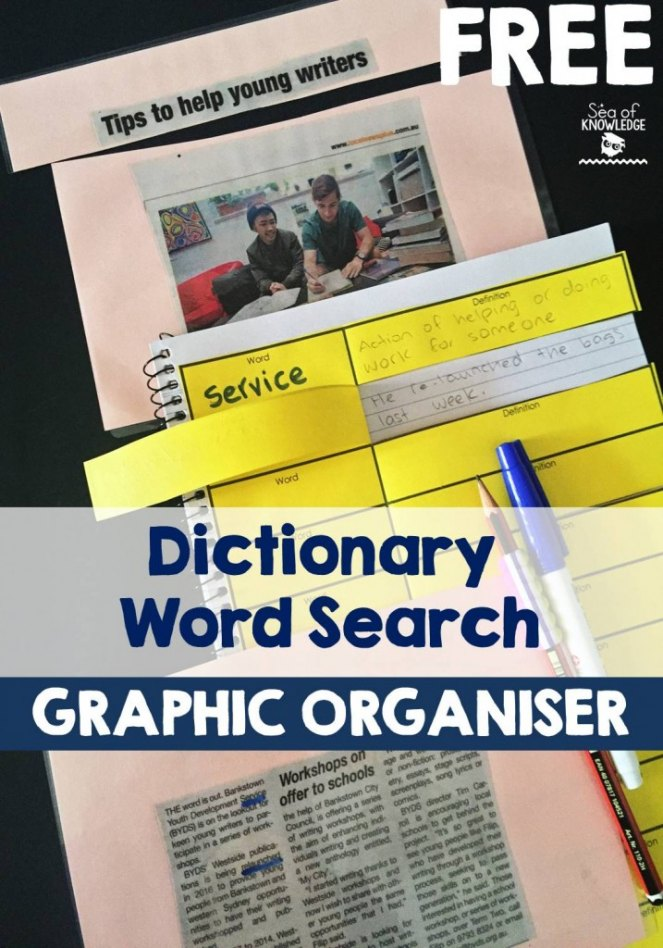 FREEDictionaryWordSearchGRaphicOrganiser