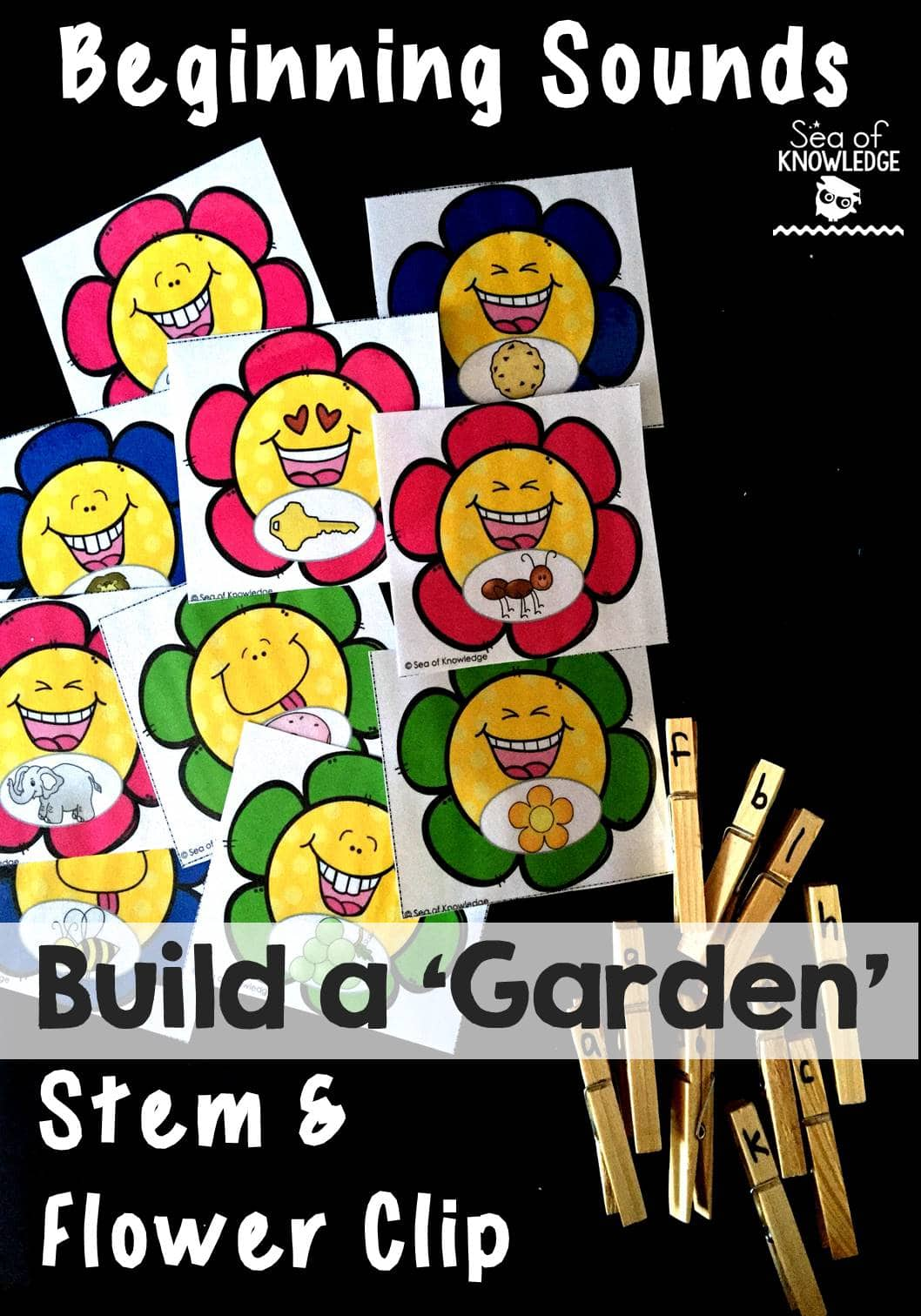 Beginning Sounds Clip Build a Garden June I Teach Linky