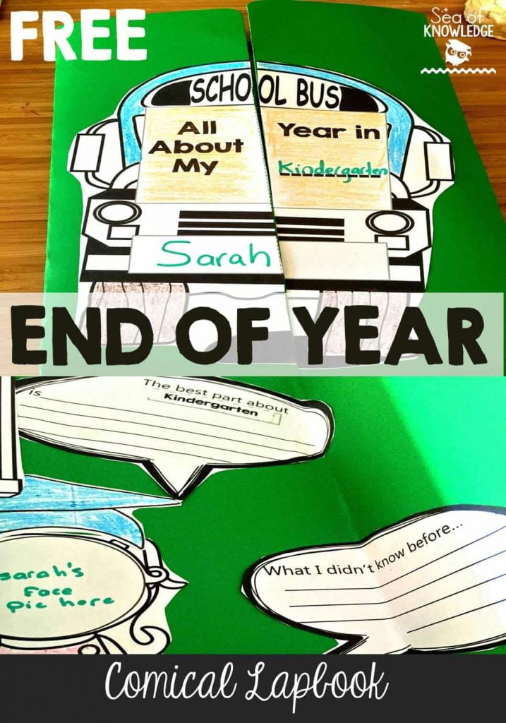 End of Year Memory Graduation Lapbook