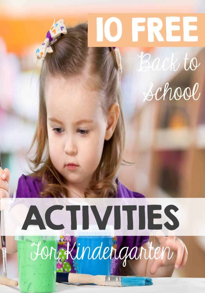 12 Free Back to School Kindergarten Activities