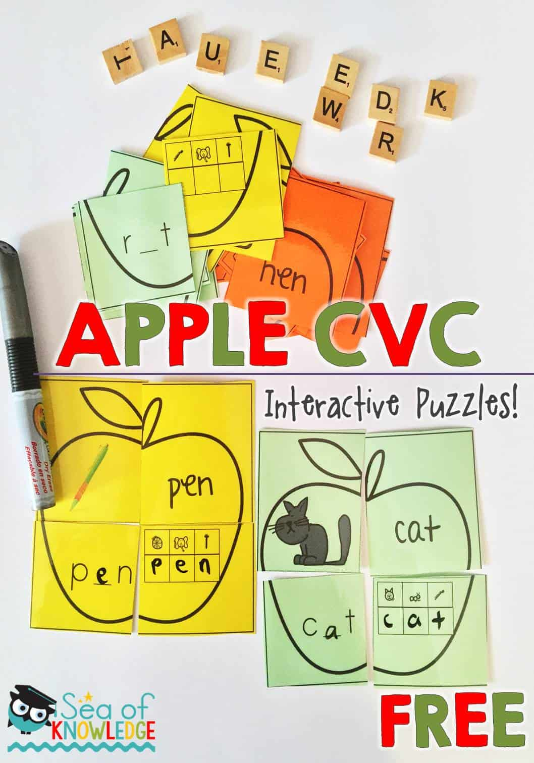 CVC Words Interactive Puzzles I Teach K-2 Linky
