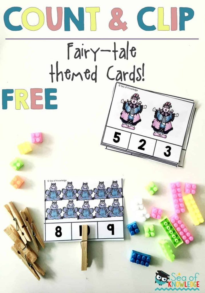 Numbers to ten Count and Clip Cards