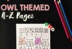 Alphabet Roll and Color Owl Themed Worksheets FREE