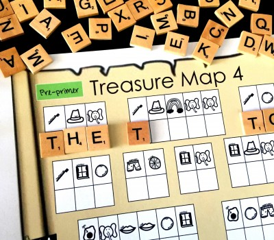 Sight Word Beginning Sounds Pre-Primer & Primer Sets Pirate Treasure Map
