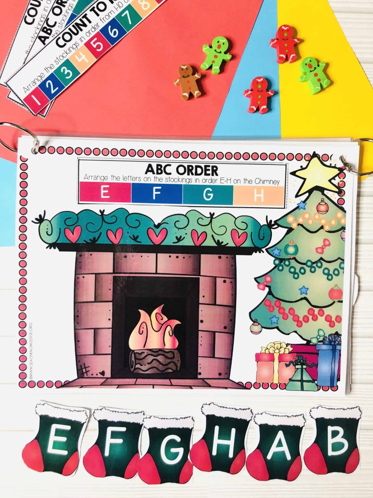 Christmas Learning Busy Book Binder Preschool Age 3-5 - Personalised