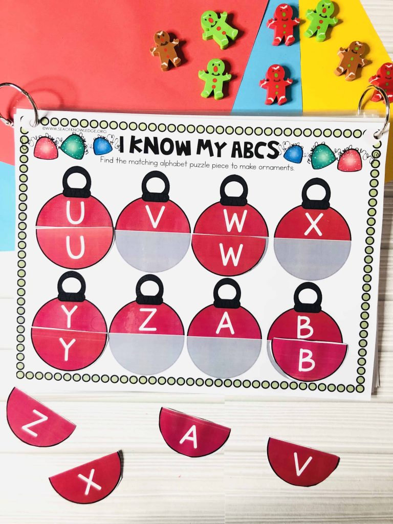 Christmas Learning Busy Book Binder Preschool Age 4-5 - Personalised