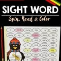 FreeSightWordSpinReadColorPenguinThemed