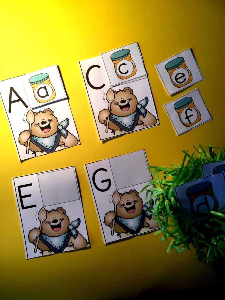 Upper and Lowercase Matching Puzzles Bear Themed. Are you looking for some fun ways to get the kids to practice matching their upper and lowercase letters? This is a skill that kids need continuous practice in. This activity is super easy to prepare for, mainstream and ESL kids will love it!