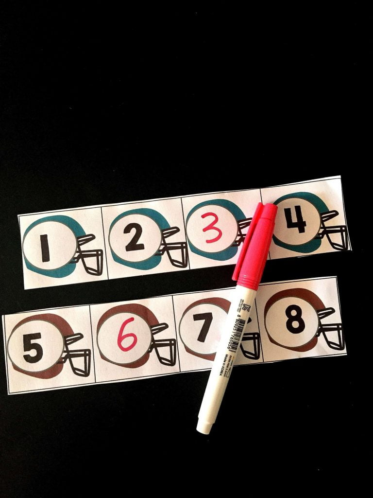 Alphabet Upper and Lowercase Football Matching Cards