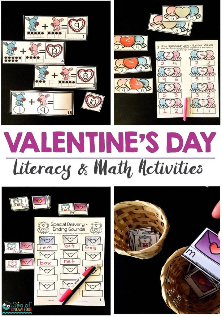 Ending Sounds Scrambled Sentences Valentines Day Activities