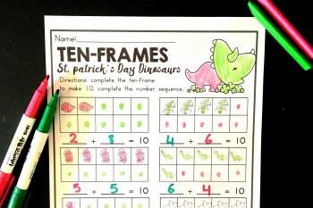 Make a Ten St. Patrick's Day Freebie