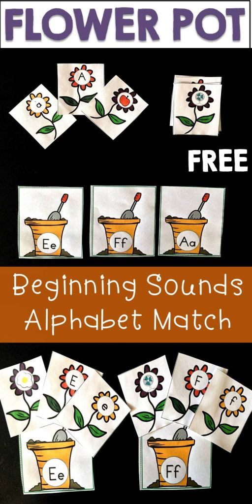 Flower Pot Alphabet Match