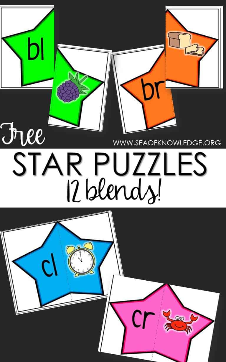 Blends Puzzles Star Themed