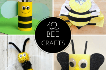 12 Bee Crafts and a Fun Free Printable
