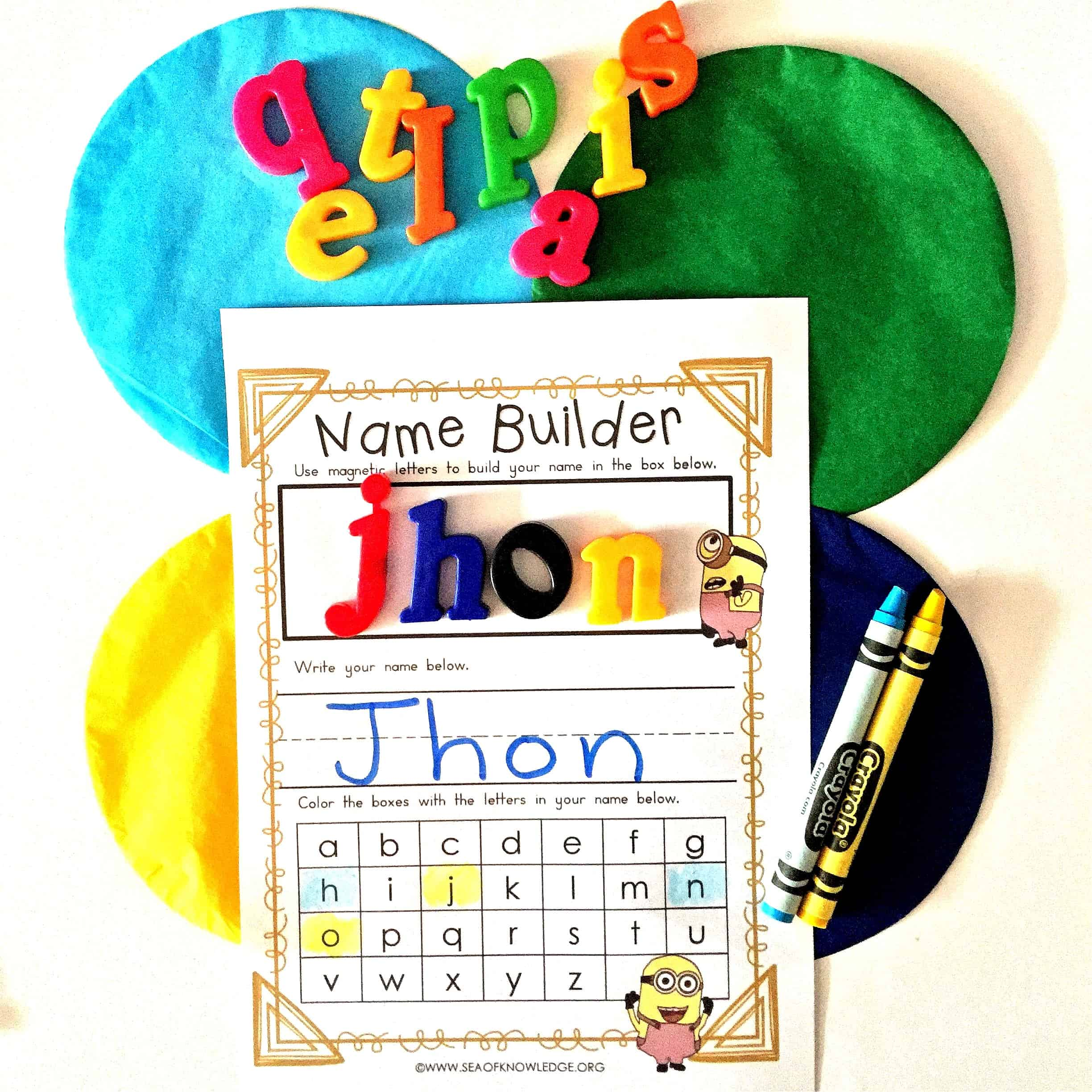 All About My Name Back to School Activities