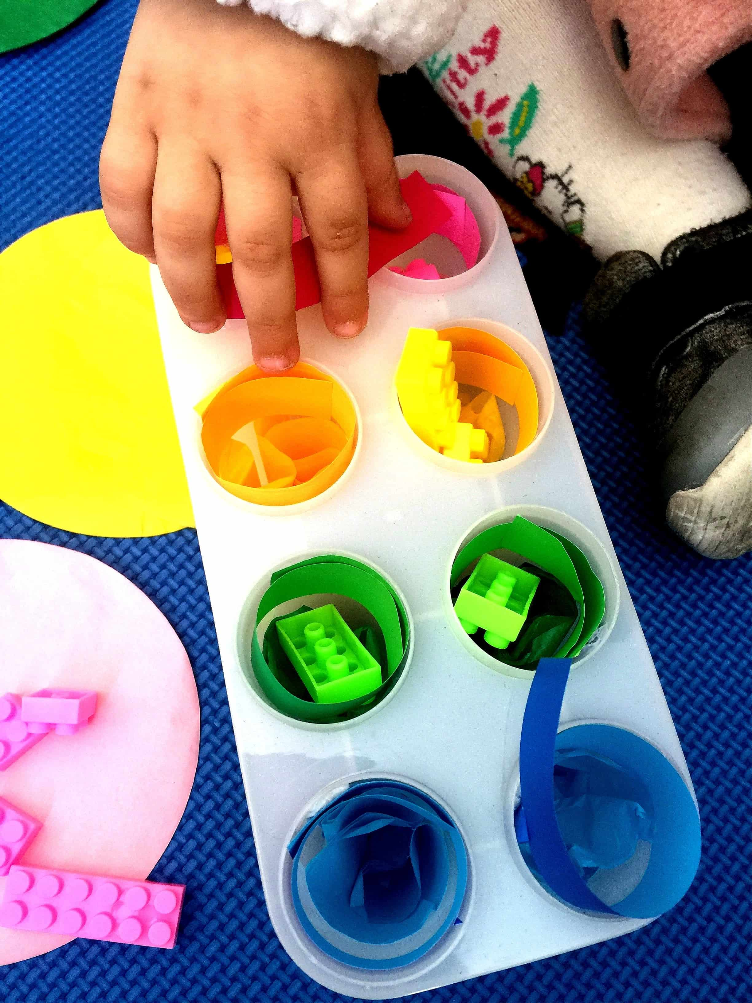 Montessori Inspired Fine Motor Color Sort