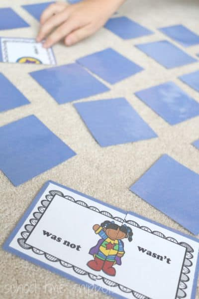 contractions-memory-game-printable