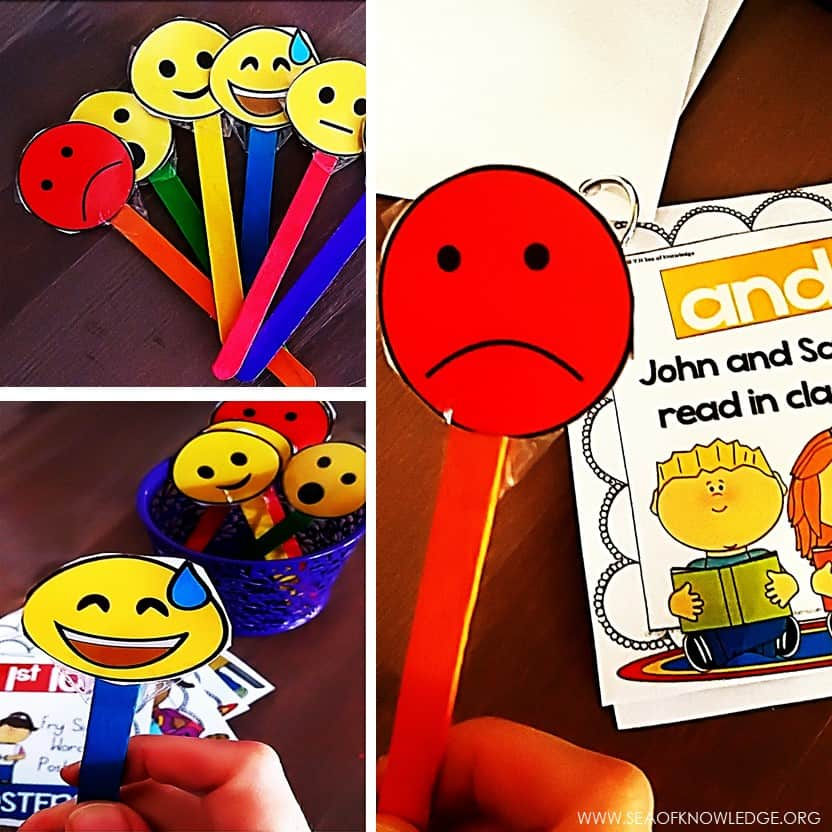 Reading with Expression Activity Free Emotion Sticks
