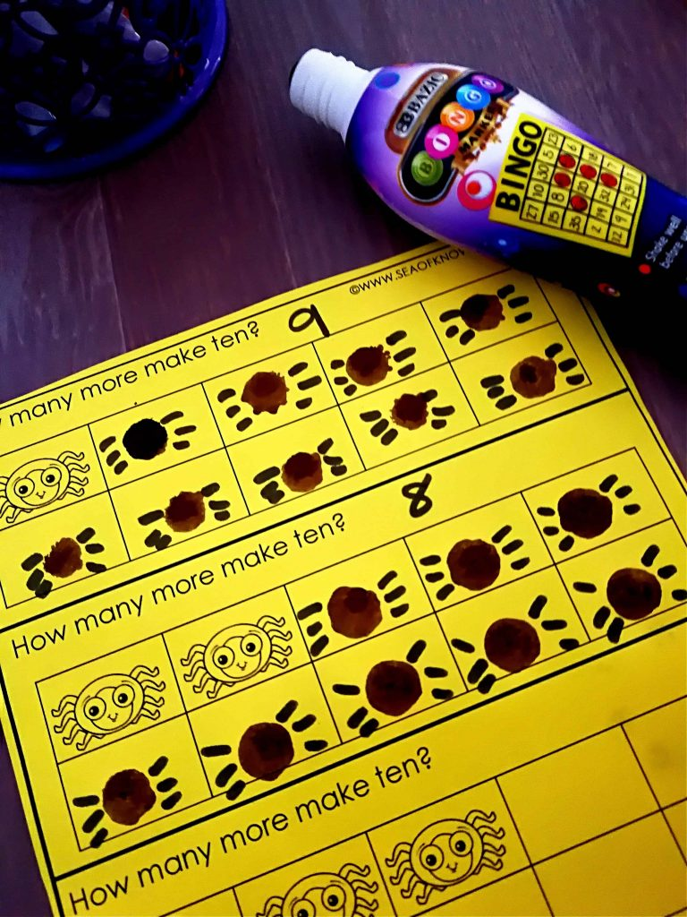 Spider Counting Game Make 10