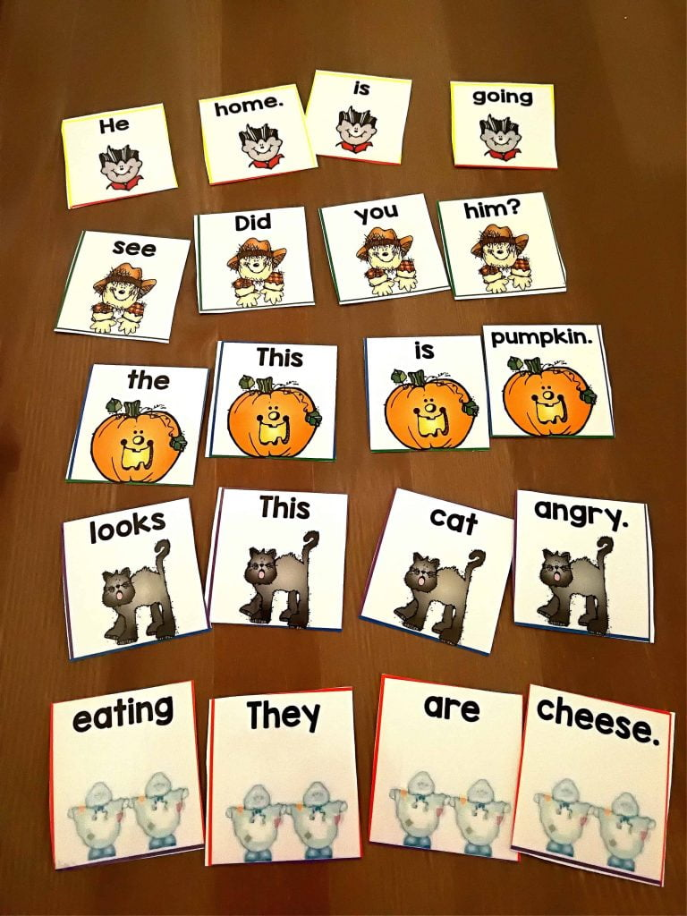 October ESL Literacy and Math Centers