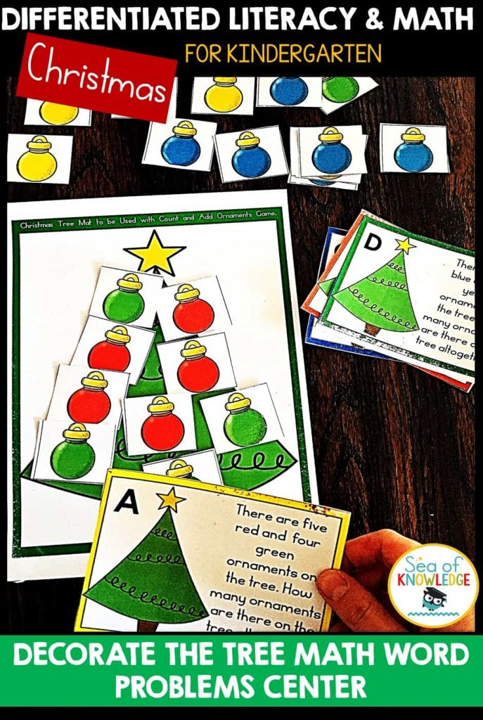 Differentiated Christmas Kinder Centers