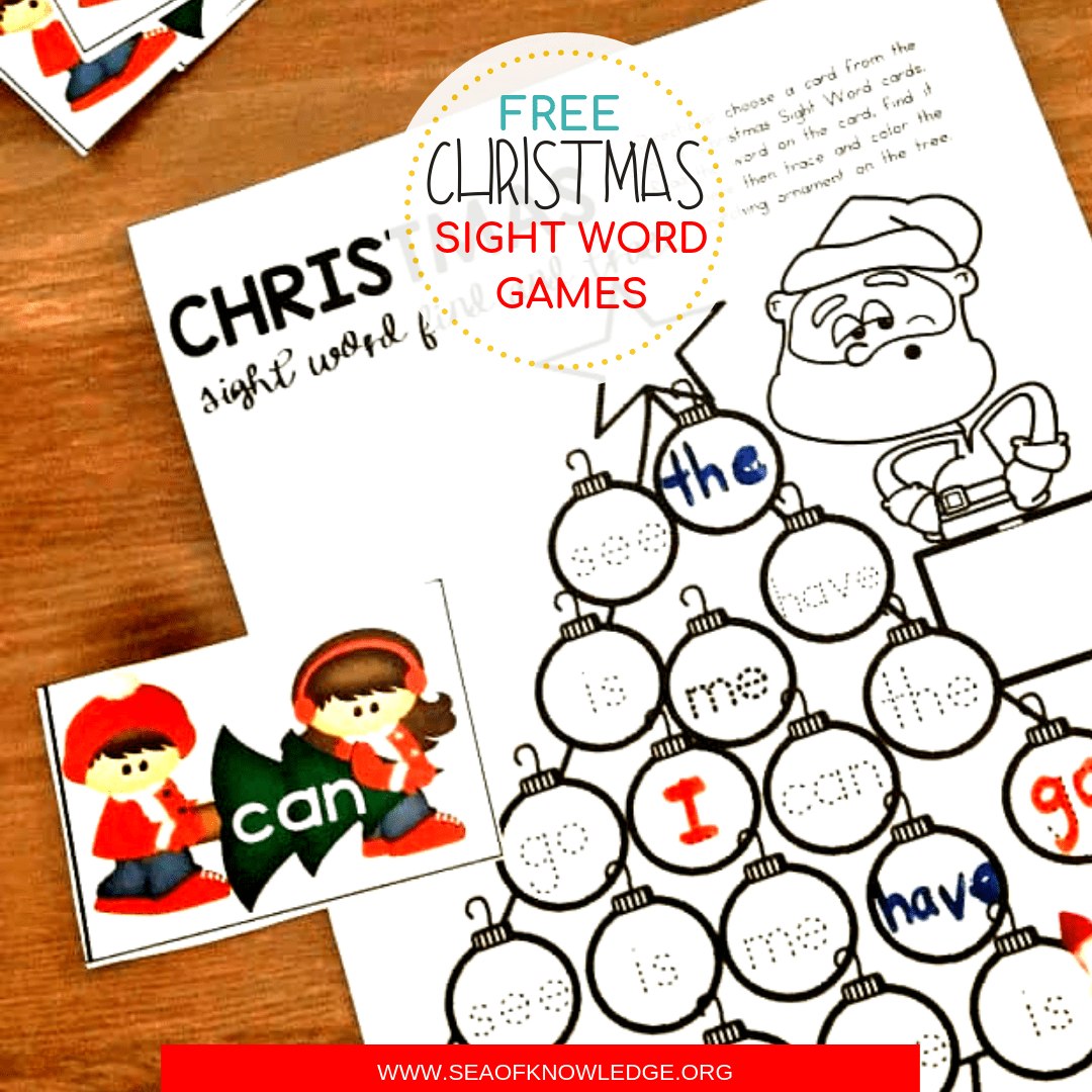 photo regarding Free Printable Sight Word Games identified as Absolutely free Printable Xmas Sight Phrase Game titles Your Little ones will