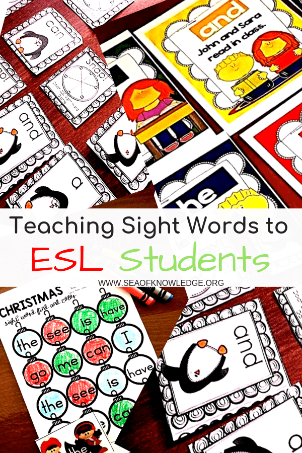 Teaching Sight Words to ESL Students: Reading sight words are a crucial component of any K-2 curriculum plan, but when it comes to teaching ESL kids the fundamentals that can be puzzling! This post will outline some easy ways to teach sight words to ESL students without overwhelming them.