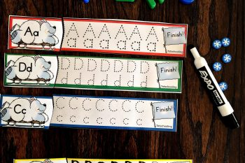 Winter Letter Tracing Dry Erase Cards