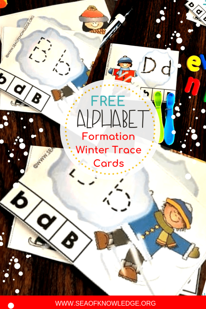 Letter Tracing Activities Winter Theme FREE Kids will love these fun letter tracing activities winter theme cards. They are fun, interactive and best of all - they help develop fine motor skills. #free #freeprintable #kindergarten #teachers #preschool #alphabetmatchingcards