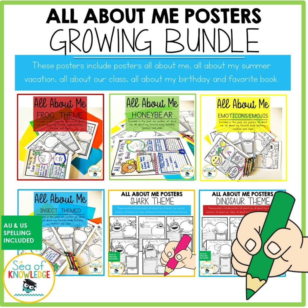 All about me Posters Bundle