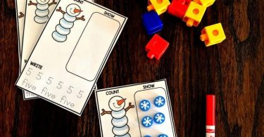 Counting with snowmen