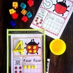 Number Math DOugh Mats