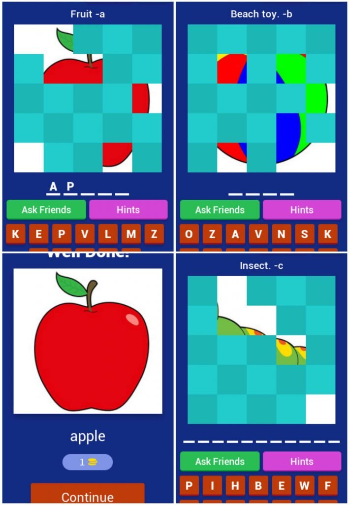 Childrens Language Learning Apps - ABC hidden pictures FREE Android Game.
