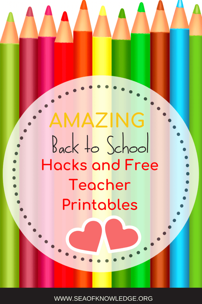 Back to School Ideas Free Printables